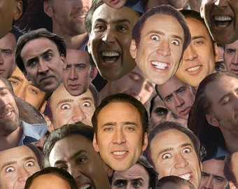 Fabric - Nic Cage-inspired cotton fabric by the yard