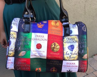 Handbag made with Diana Gabaldon book fabric