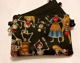 Dancing Skeletons Small zippered bag