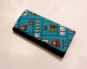 Wallet made with Nintendo fabric
