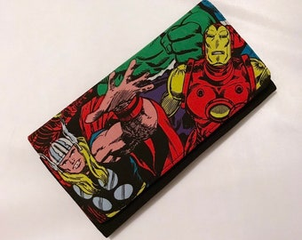 Wallet made with Avengers fabric
