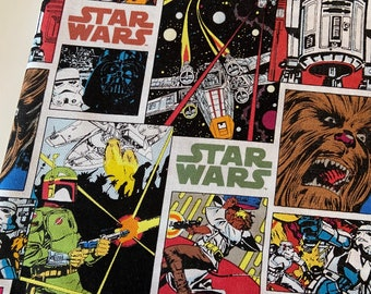 PREORDER - Cotton face mask with filter pocket made with Star Wars comic fabric