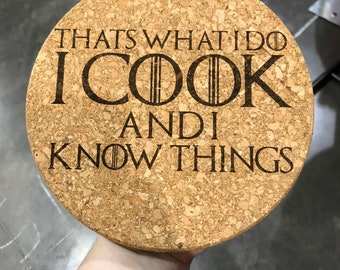 Cook and Know Things cork trivet