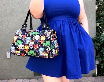 Handbag made with Avengers fabric