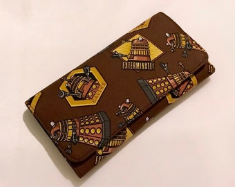Wallet made with Dalek fabric