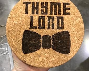 Thyme Lord cork trivet