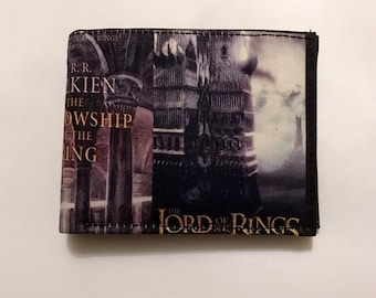 Bifold wallet made with Tolkien book fabric