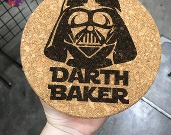 Darth Baker cork trivet