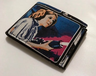 Bifold wallet made with classic Star Wars fabric