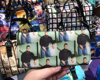 Wallet made with 90's The Rock fabric