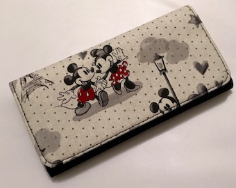 Wallet made with cartoon mouse fabric