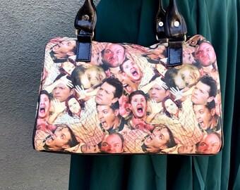 Handbag made with Supernatural characters fabric