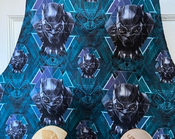 Reversible apron (6 pockets) made with Black Panther fabric
