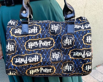 Handbag made with Harry Potter argyle fabric
