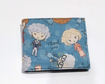 Bifold wallet made with Golden Girls-inspired fabric
