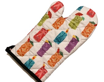 Tiki Drinks Oven Mitt