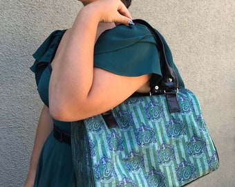 Handbag made with Slytherin fabric