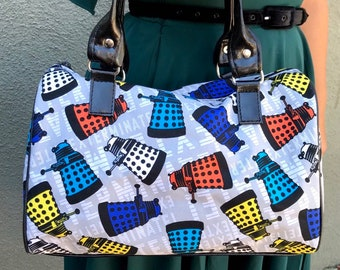 Handbag made with Dalek fabric