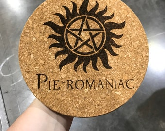 Pie-Romaniac cork trivet