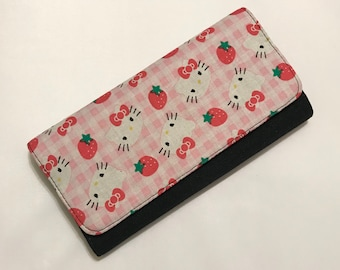 Wallet made with Hello Kitty fabric