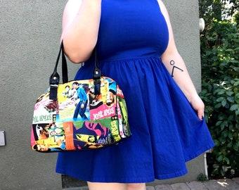 Handbag made with Star Trek comic book fabric