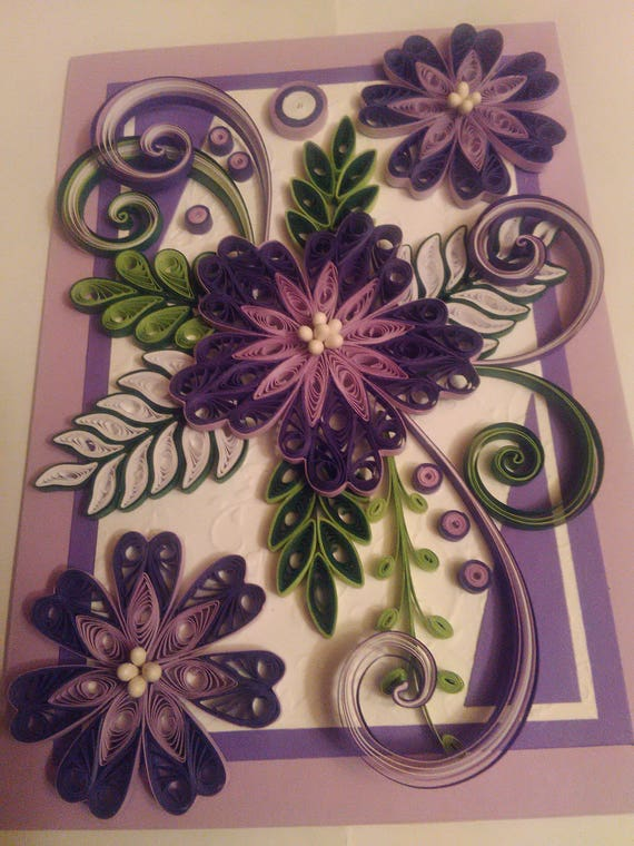 Quilling card quilled mother day cardquilled birthday etsy image 0 m4hsunfo