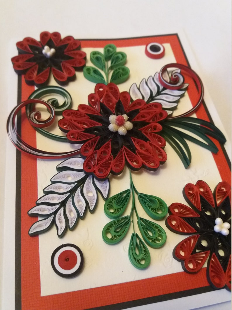 Quilled Birthday card Paper card Handmade card Greeting card Quilled Mother/'s day card Love card Quilling card