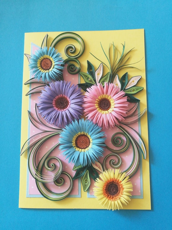 Quilling card greeting card handmade quilling card birthday etsy image 0 m4hsunfo