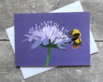 Bumblebee greeting card – blank inside | Bee greeting card
