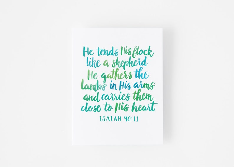Green Loved Verse 40 Quality And Of One Card Loss 11 A Bible Lettered Blue Hand High Isaiah Quote Scripture Sympathy ybf76gY