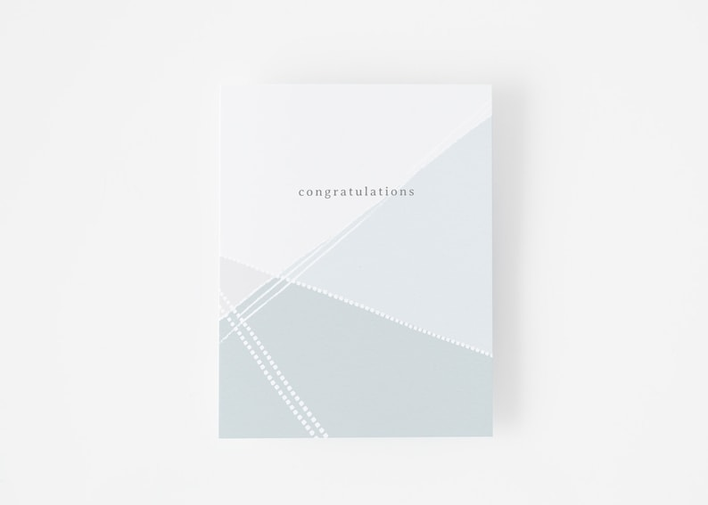 Anniversary Card Graduation Card Congrats Card Modern Gender Neutral Congratulations Card Engagement Card Minimalist Wedding Card