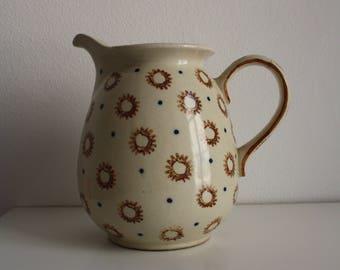 Vintage Hand painted Ceramic Jar / Vintage Jar / Polish Ceramics / Hand painted Jar / Vintage Jar/ Made in Poland