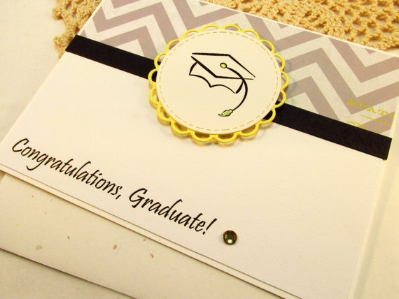 Graduation Card Congratulations Graduate Handmade College Etsy