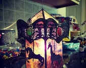 3D Stained Glass Carousel Light