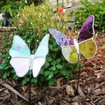 Stained Glass Butterfly Garden Stake made in Your Color Choices!