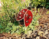 Stained Glass Lady Bug Garden/Plant Stake