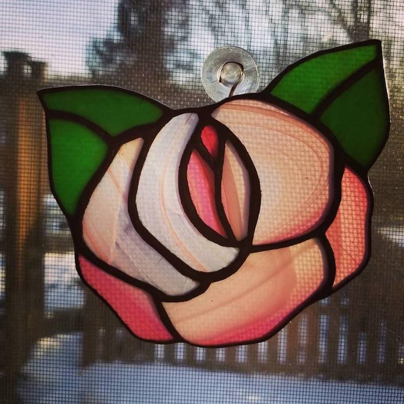 Stained Glass Flower Suncatcher image 0