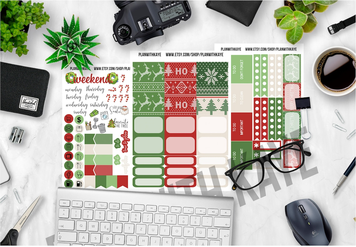 Ugly Sweater Christmas Happy Planner Sticker Weekly Kit