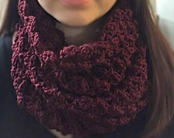 Crochet Square Scarf - Crochet Scarf - Crochet Neck Warmer  - Neck Warmer - Crochet Cowl
