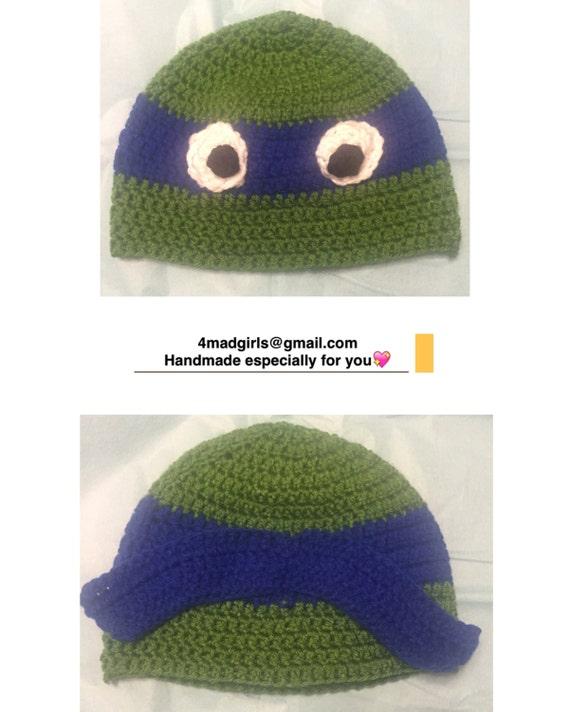 Teenage Mutant Ninja Turtle Crochet Hat Crochet Ninja Turtle  354694a92d6c