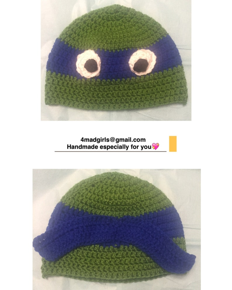 1e7c51558 Teenage Mutant Ninja Turtle Crochet Hat - Crochet Ninja Turtle Hat - Photo  Prop Character Hat Raphael Donatello Leonardo Michelangelo