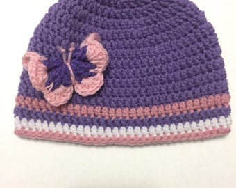 Inspired by the Caleb and Sophia Videos - Crochet Butterfly Hat - Crochet Butterfly for Pen - Crochet Butterfly Purse