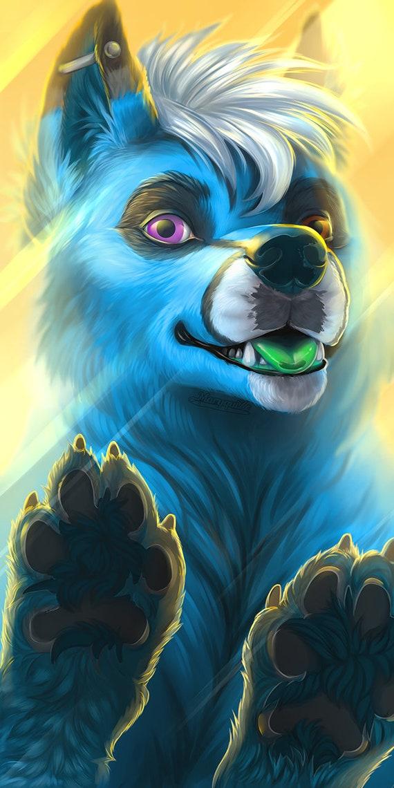Furry Phone Desktop Wallpaper