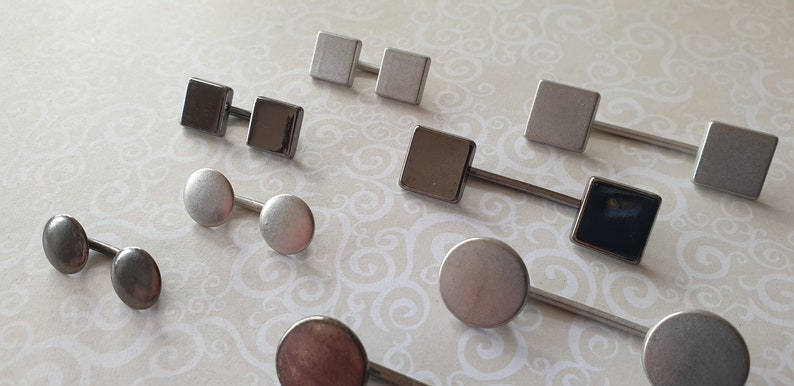 Edge 2 Edge Bar Buttons in 2 shapes,2 sizes /& 2 colours