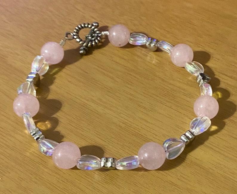 Rose quartz health bracelet image 0