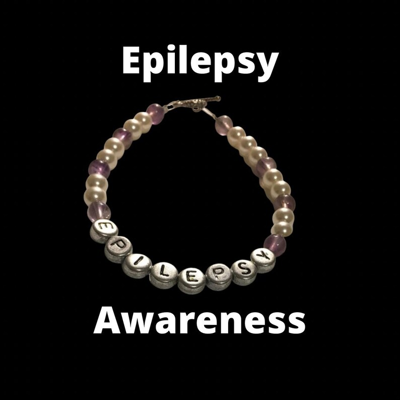 Epilepsy medical alert bracelet epilepsy jewelry epilepsy image 0