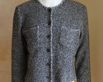 9417cbb6 Celine jacket cardigan sweater pullover wool jacket coat blazer vintage  Celine Paris sweater