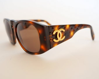 975c0300500d Chanel sunglasses,chanel 01450,chanel vintage sunglasses, tortoise,CC logo,sunglasses  quilted arms,chanel gold logo brown frame
