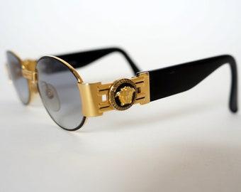 2af781851dc Versace sunglasses S71 16L gianni versace sunglasses medusa iconic vintage  frame black gold medusa