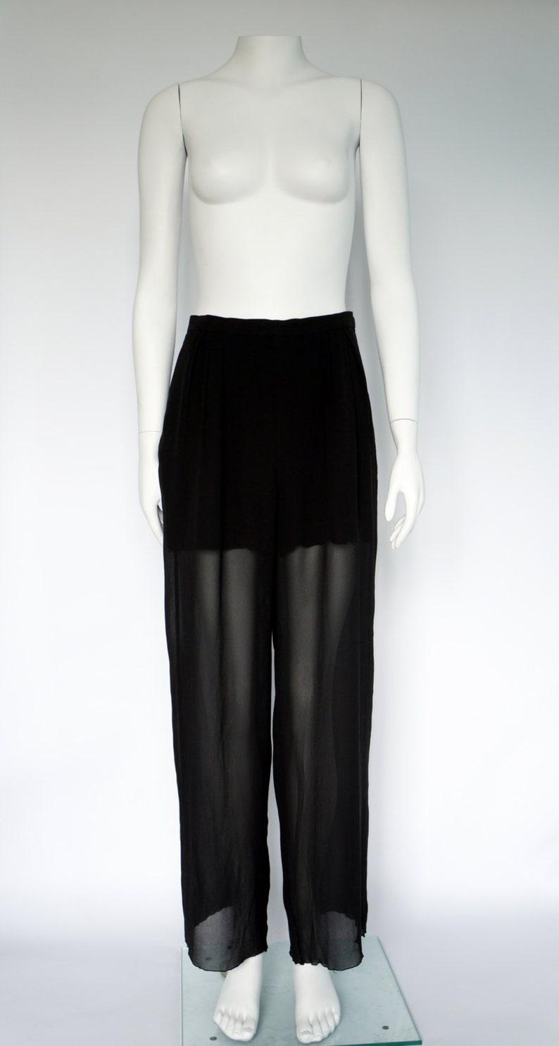 513da4e1d165 Vintage Chanel pants jeans skirt silk Boutique chanel dress | Etsy